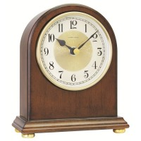DARK WOODEN MANTEL CLOCK TRADITIONAL LONDON CLOCK